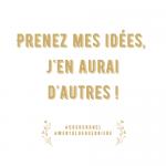 Prenez mes idées ! – Semaine 24