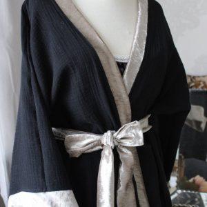 kimono - noir et champagne