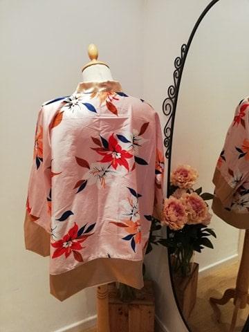 kimono japonisant rose