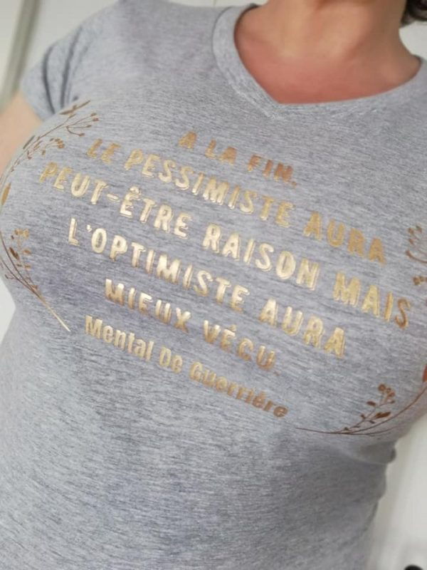 T-shirt à message