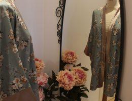 kimono japonisant vert d'eau